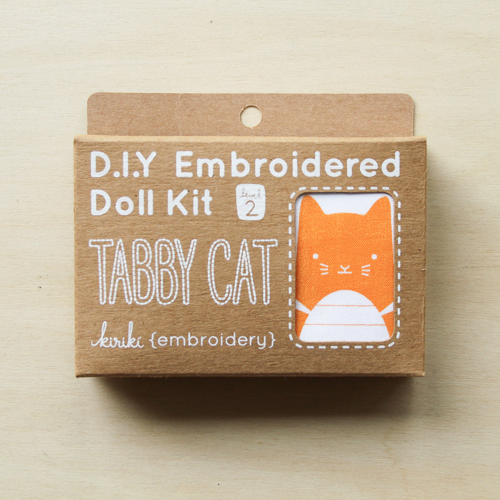 Kiriki Press - Embroidered Doll Kit - Tabby Cat