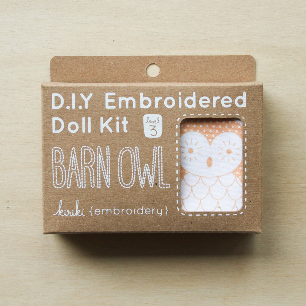 Kiriki Press - Embroidered Doll Kit - Barn Owl