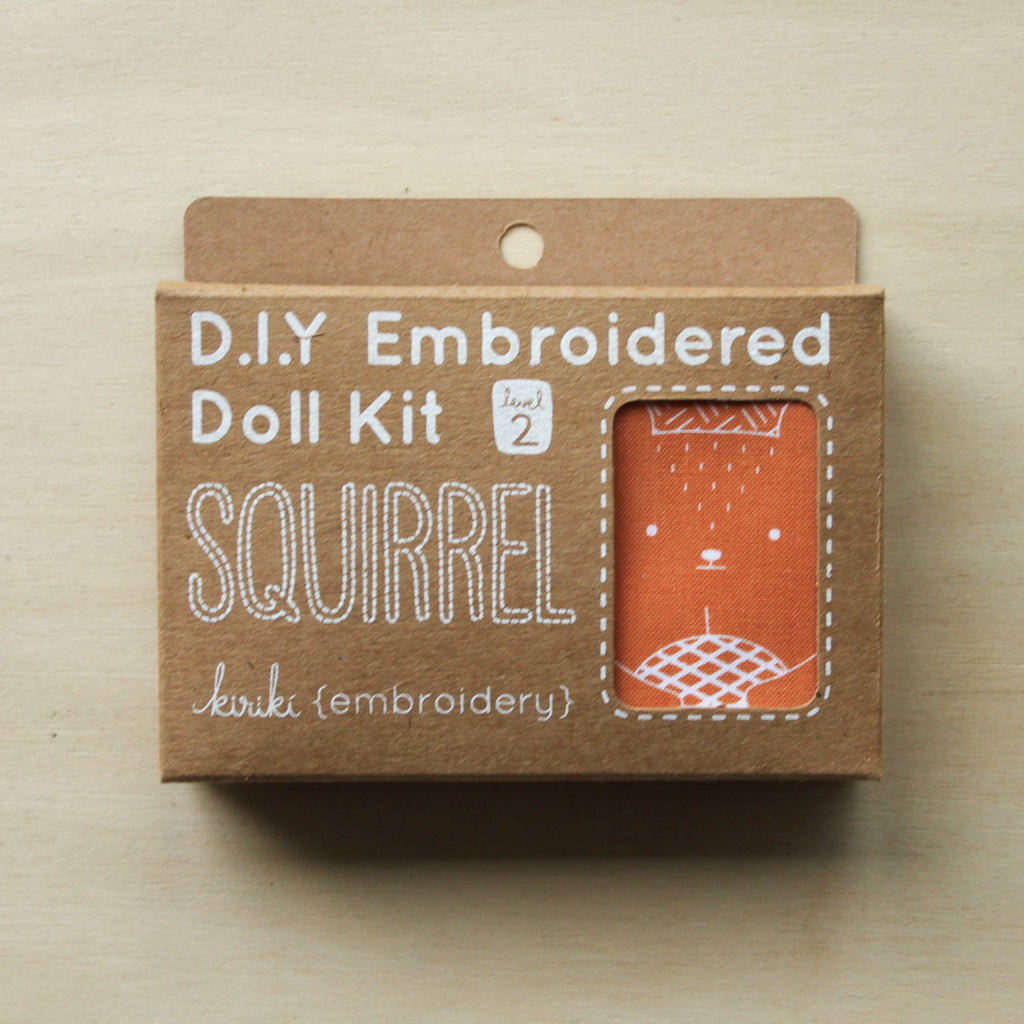 Kiriki Press - Embroidered Doll Kit - Squirrel