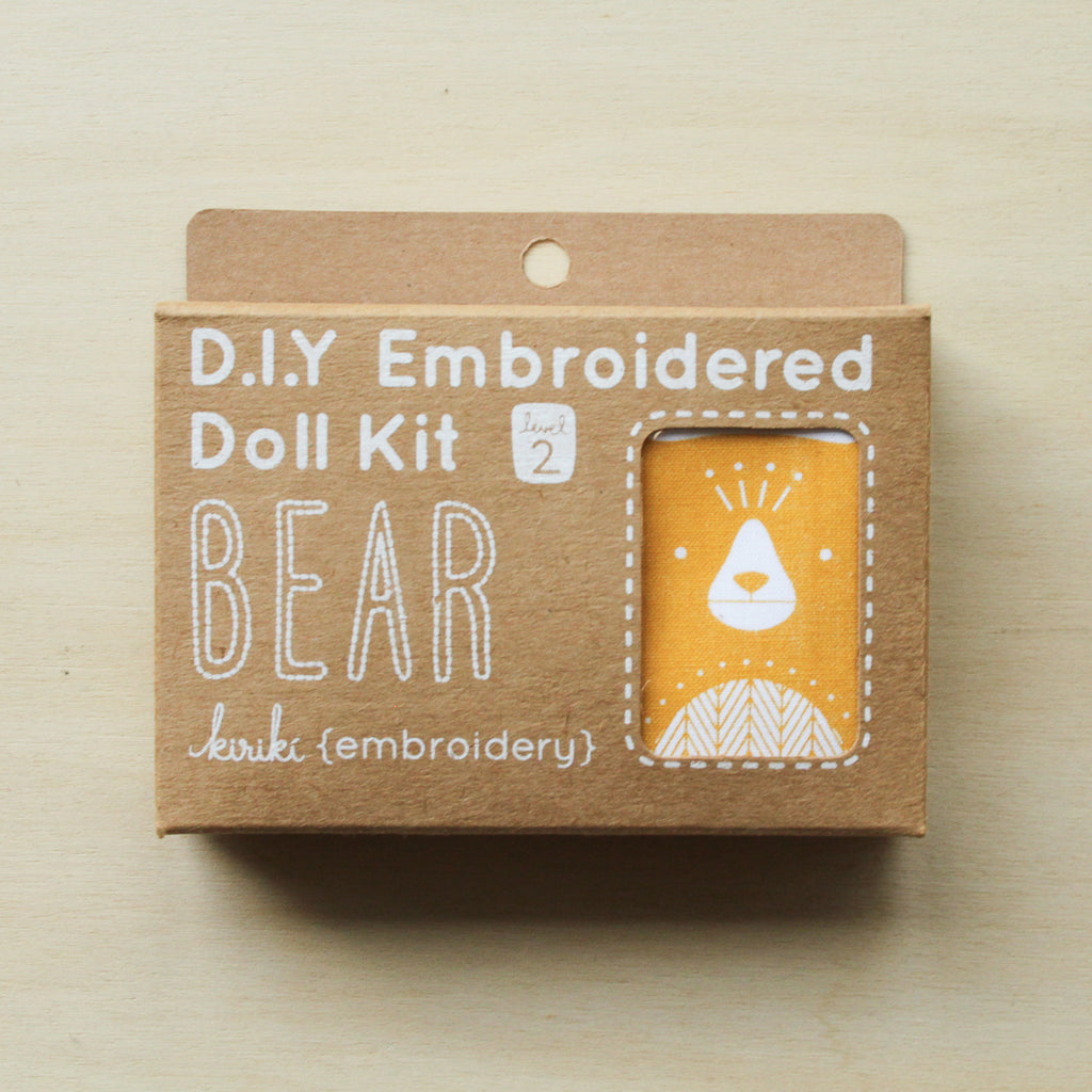 Kiriki Press - Embroidered Doll Kit - Bear