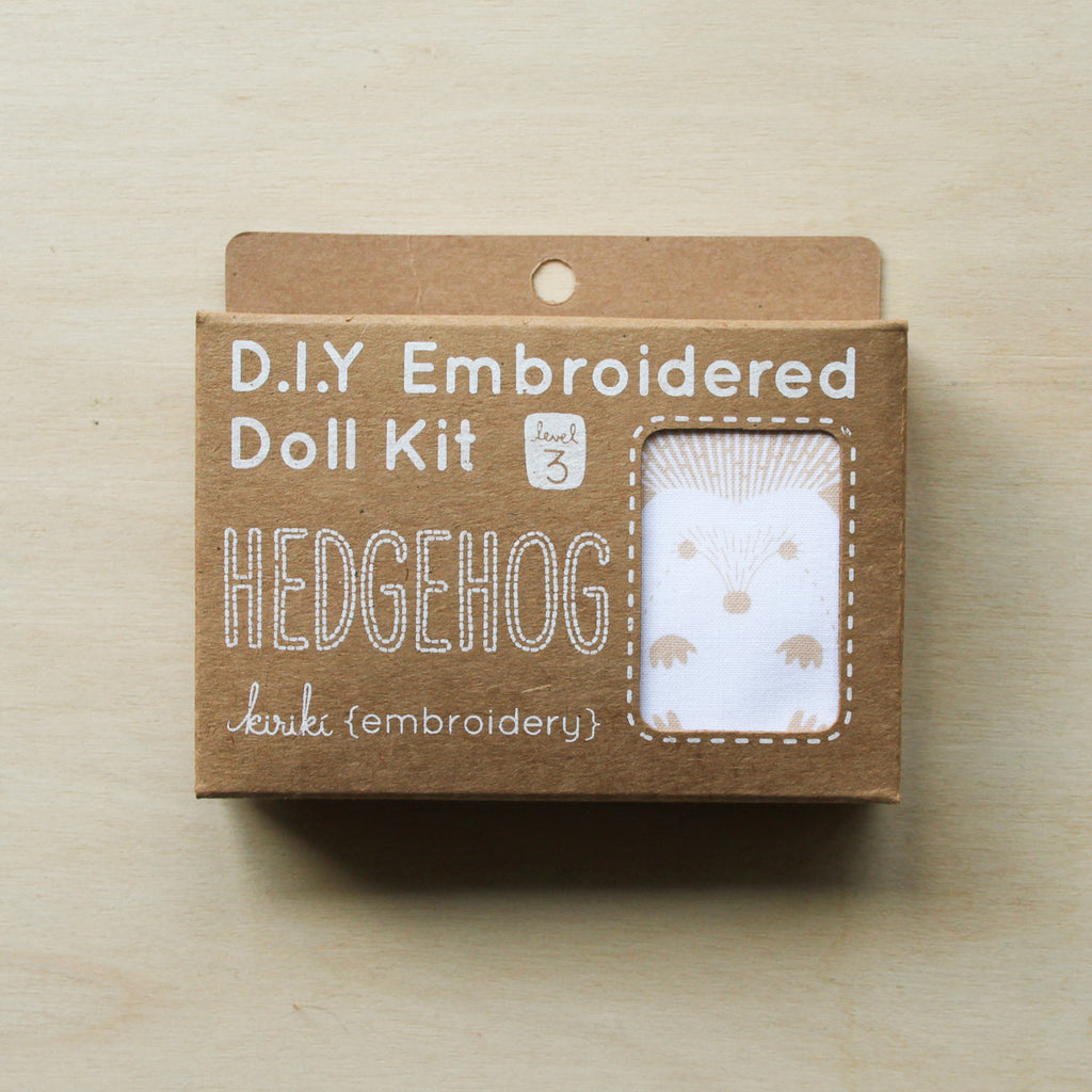 Kiriki Press - Embroidered Doll Kit - Hedgehog
