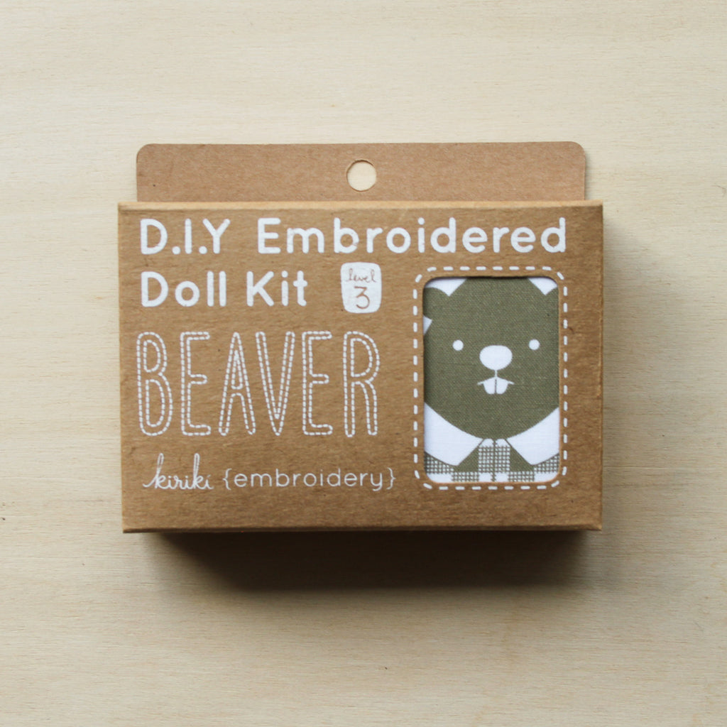 Kiriki Press - Embroidered Doll Kit - Beaver