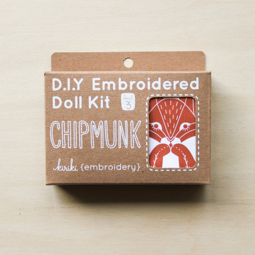 Kiriki Press - Embroidered Doll Kit - Chipmunk