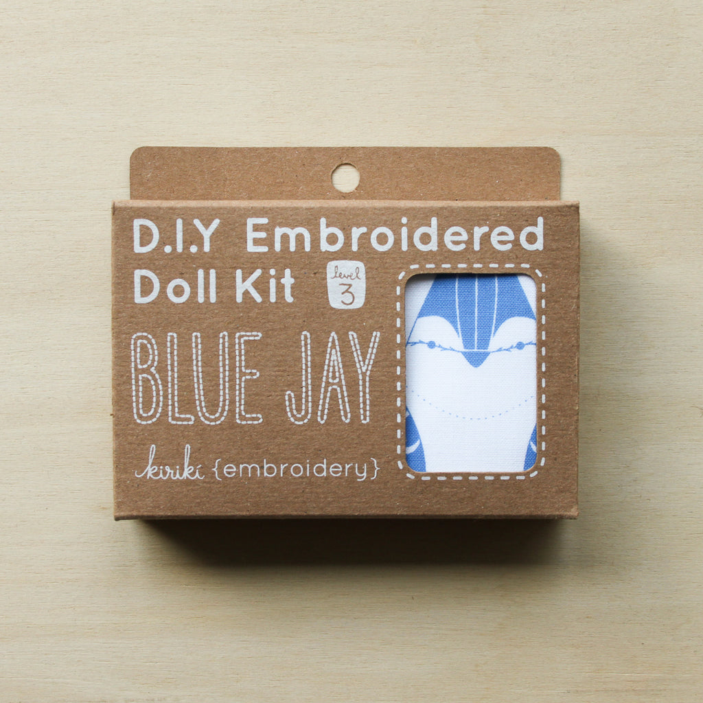 Kiriki Press - Embroidered Doll Kit - Blue Jay