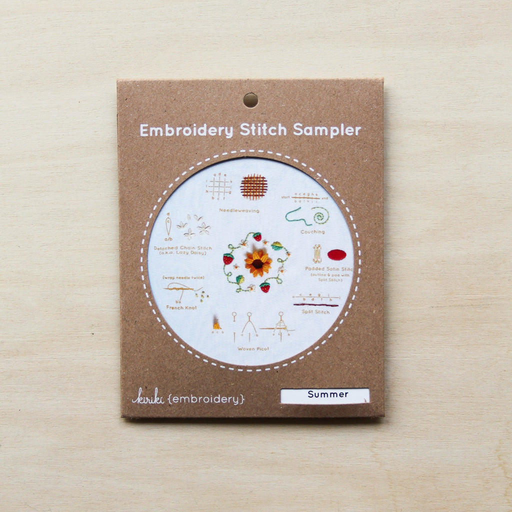 Kiriki Press- Embroidery Stitch Sampler - Summer