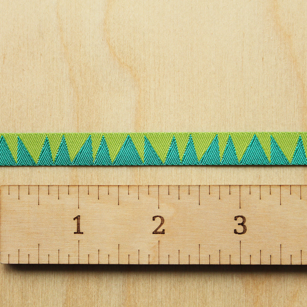 Renaissance Ribbons - Stems - Turquoise/Green - 3/8""