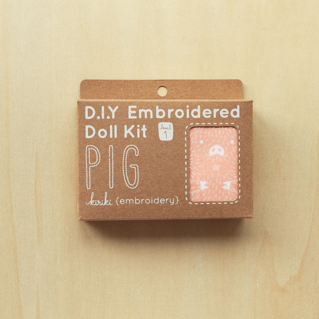 Kiriki Press - Embroidered Doll Kit - Pig