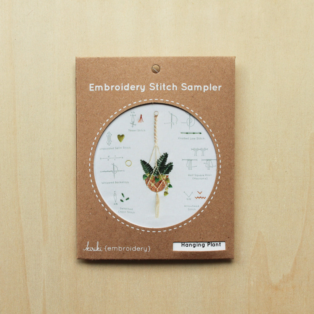 Kiriki Press - Embroidery Stitch Sampler - Hanging Plant