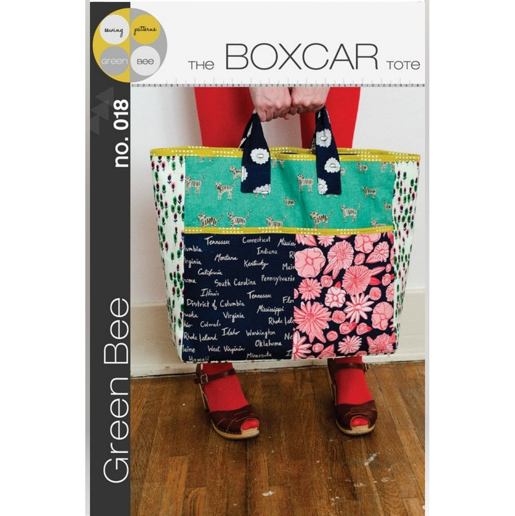 Green Bee Sewing Patterns - The Boxcar Tote