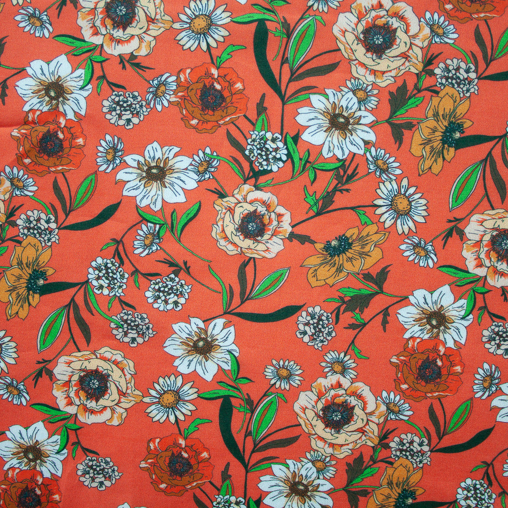 1/2m Lady McElroy - Cotton Lawn - Set for Summer - Orange / Green
