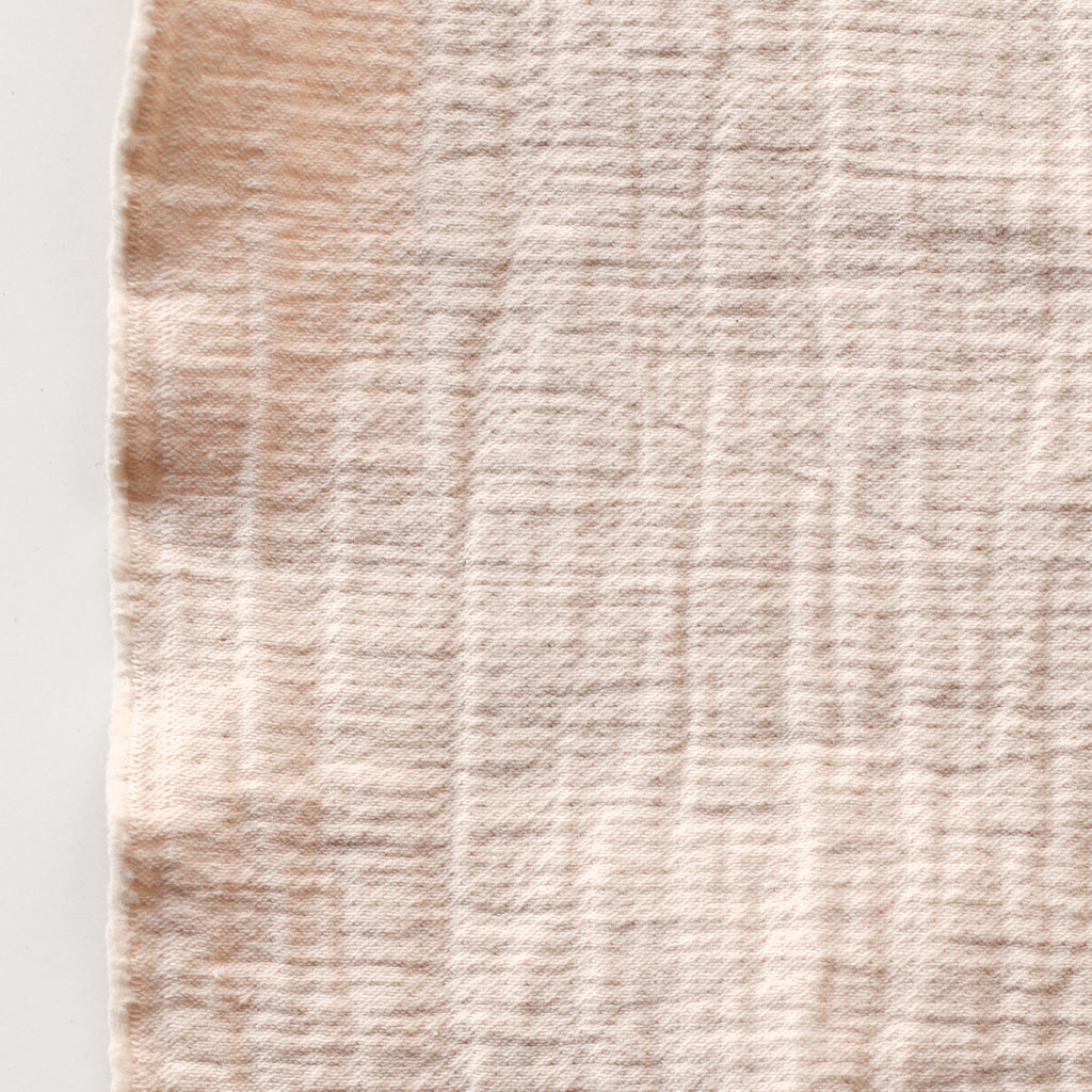 1/2m Textured Cotton Double Cloth - Almond