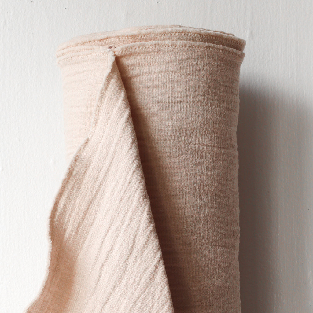 1/2m Textured Cotton Double Cloth - Blush