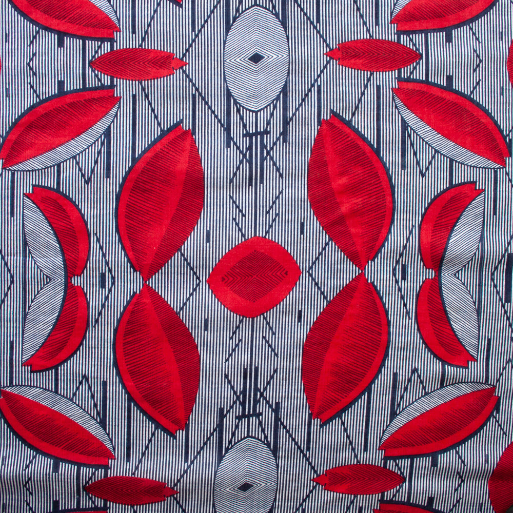 1/2m Verona Voile - Red and Navy