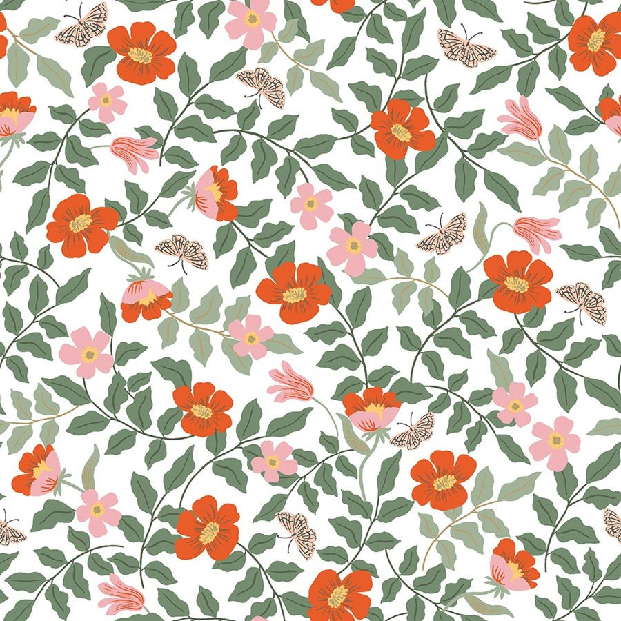 1/2m Rifle Paper Co. - Strawberry Fields - Primrose - Ivory