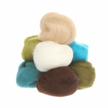 Wistyria Wool Roving - 8 Pieces - Chic