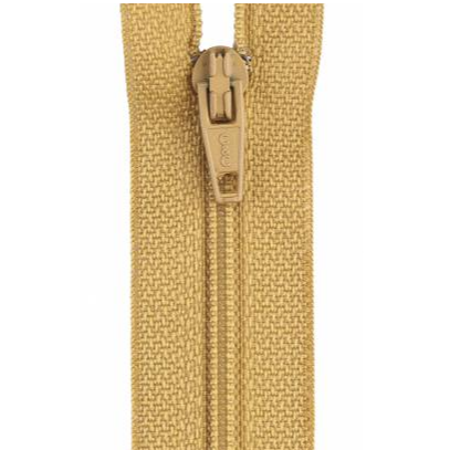 All-Purpose Polyester Coil Zipper 7in - Temple Gold