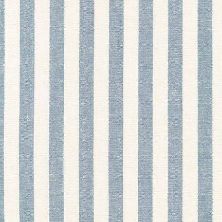 1/2m Robert Kaufman - Essex Yarn Dyed Classic Wovens - Stripe - Chambray