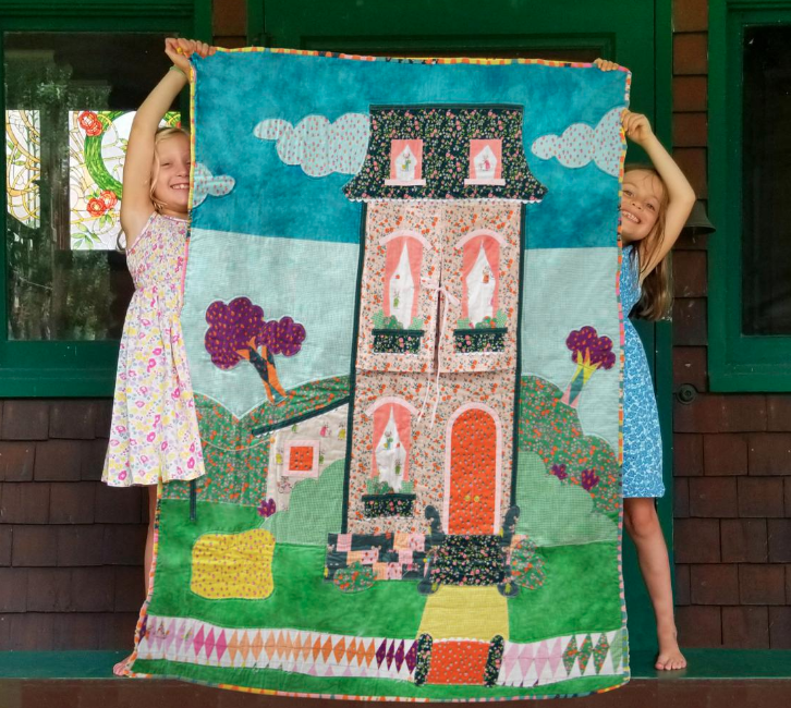 "Heather Ross - Townhouse Play Quilt Kit - 41"" x 55"""
