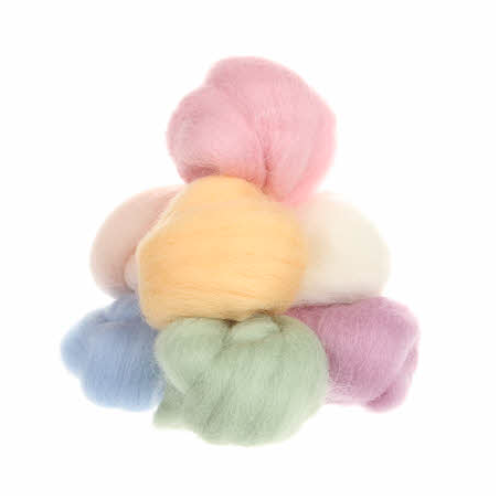 Wistyria Wool Roving - 8 Pieces - Soft Pastels