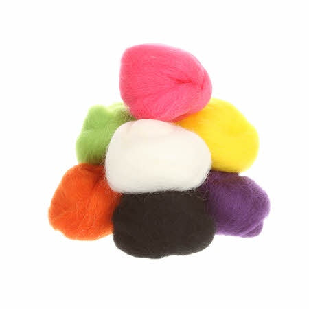 Wistyria Wool Roving - 8 Pieces - Bright