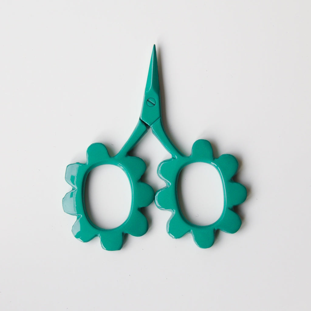 Flower Power Scissors - Green