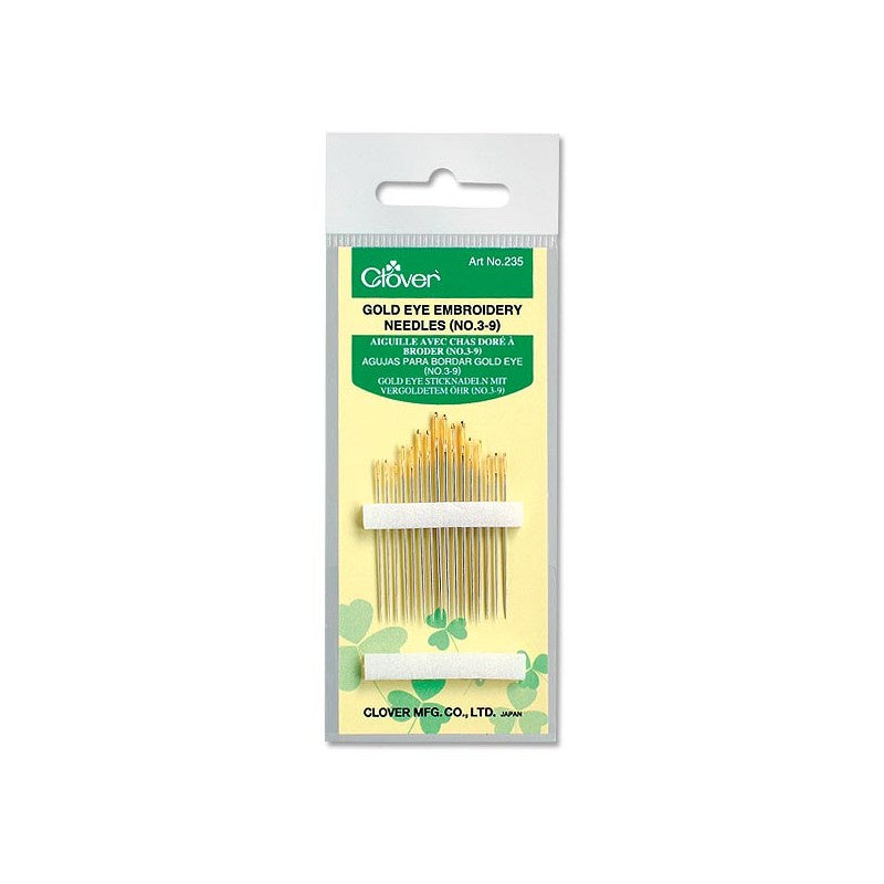 Gold Eye Embroidery Needles (No. 3-9)