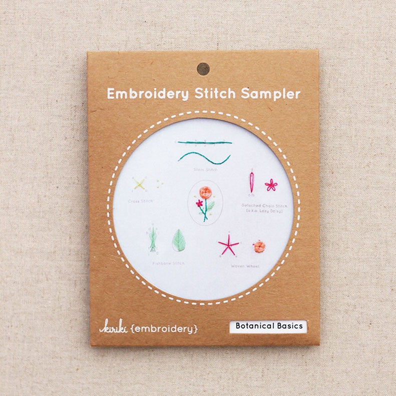 Kiriki Press - Embroidery Stitch Sampler - Botanical Basics Sampler