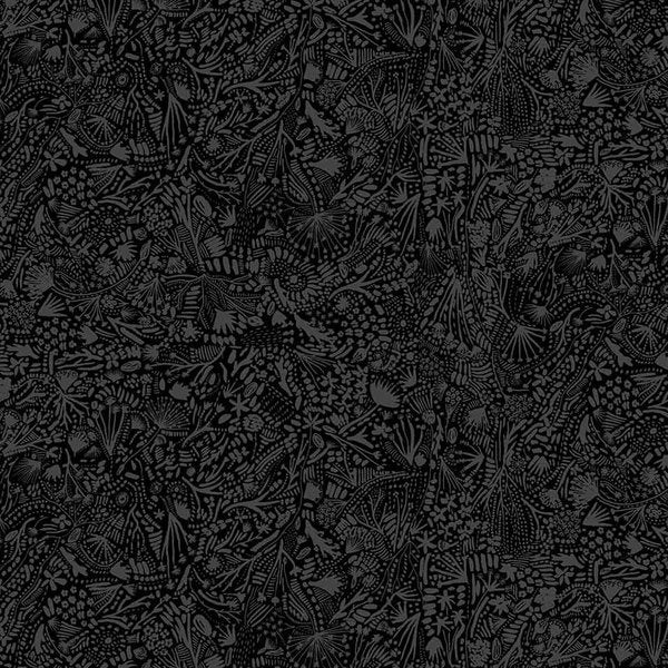1/2m Boccaccini Meadows - After the Rain - Plants - RAYON - Black
