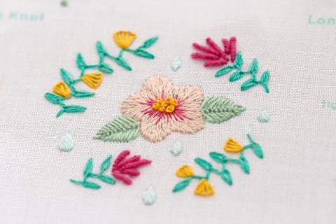 Kiriki Press- Embroidery Stitch Sampler - Spring