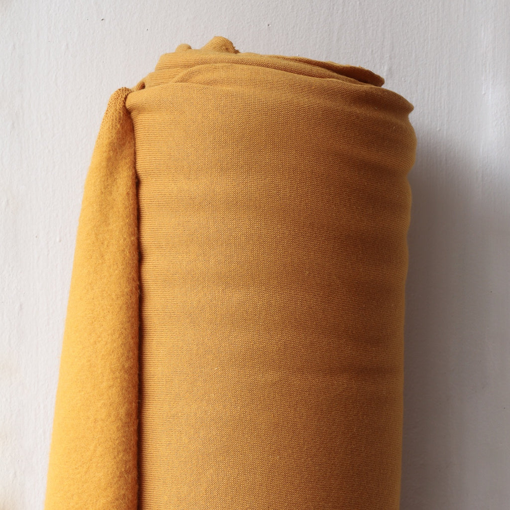 1/2m Bamboo Cotton Fleece - Saffron