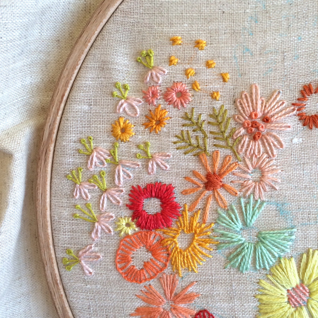 Embroidery Beyond the Basics: Florals and Fancy Stitches