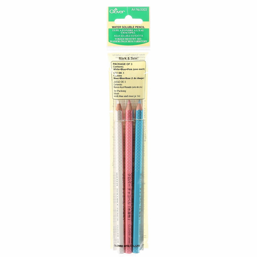 Water Soluble Pencils - 3 Pack