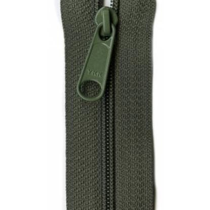 "YKK Ziplon Closed Bottom Zipper - 9"" - Olive"