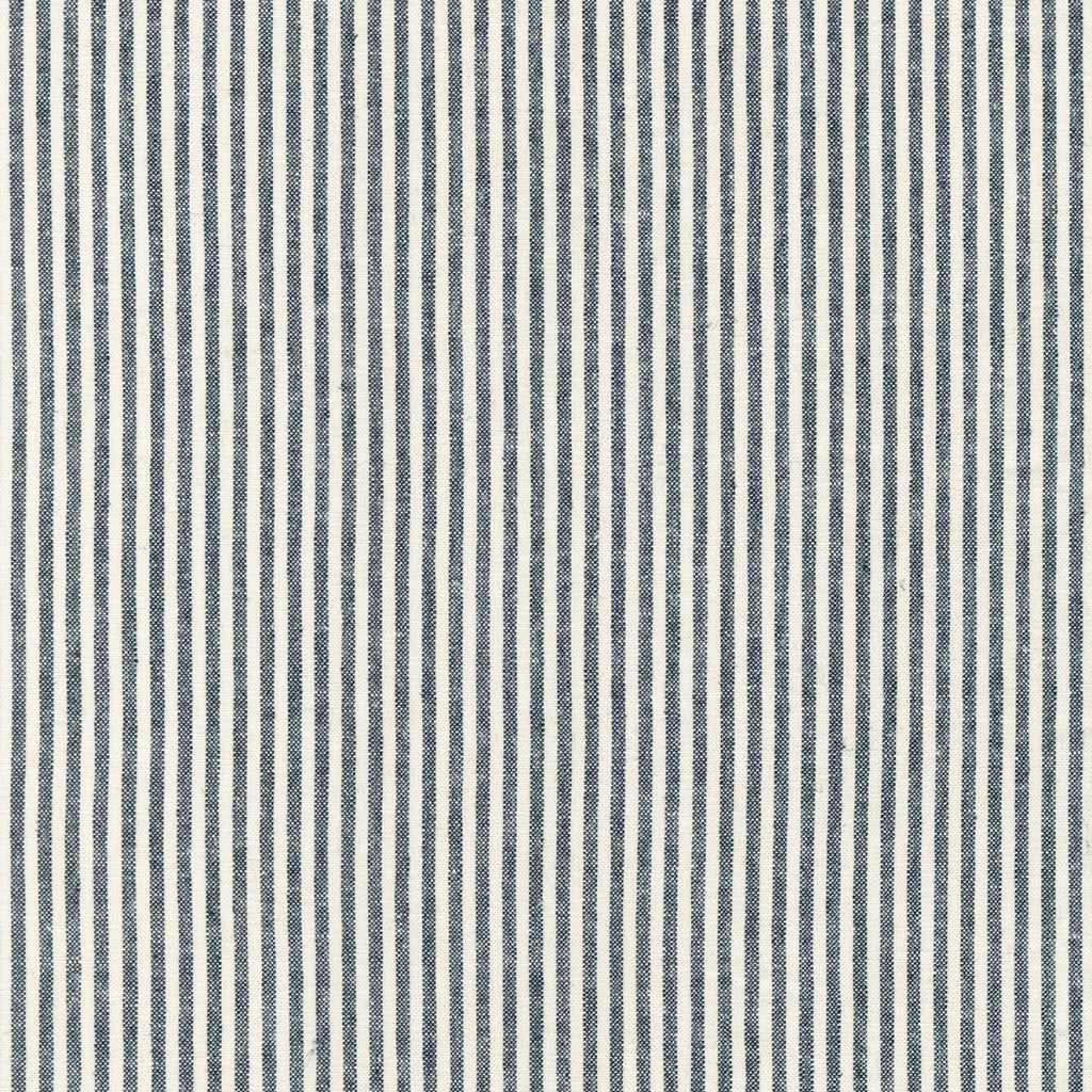 1/2m Robert Kaufman - Essex Yarn Dyed Classic Wovens - Small Stripe - Indigo