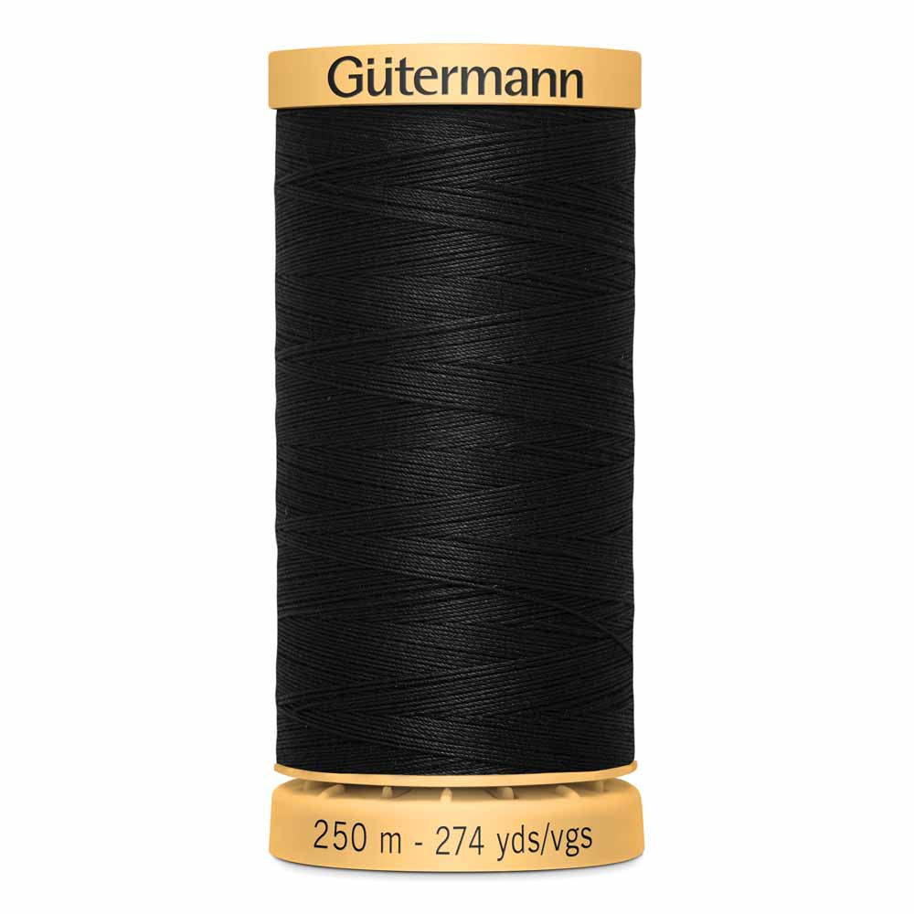 Gütermann Cotton Thread - 250m - #1001 Black