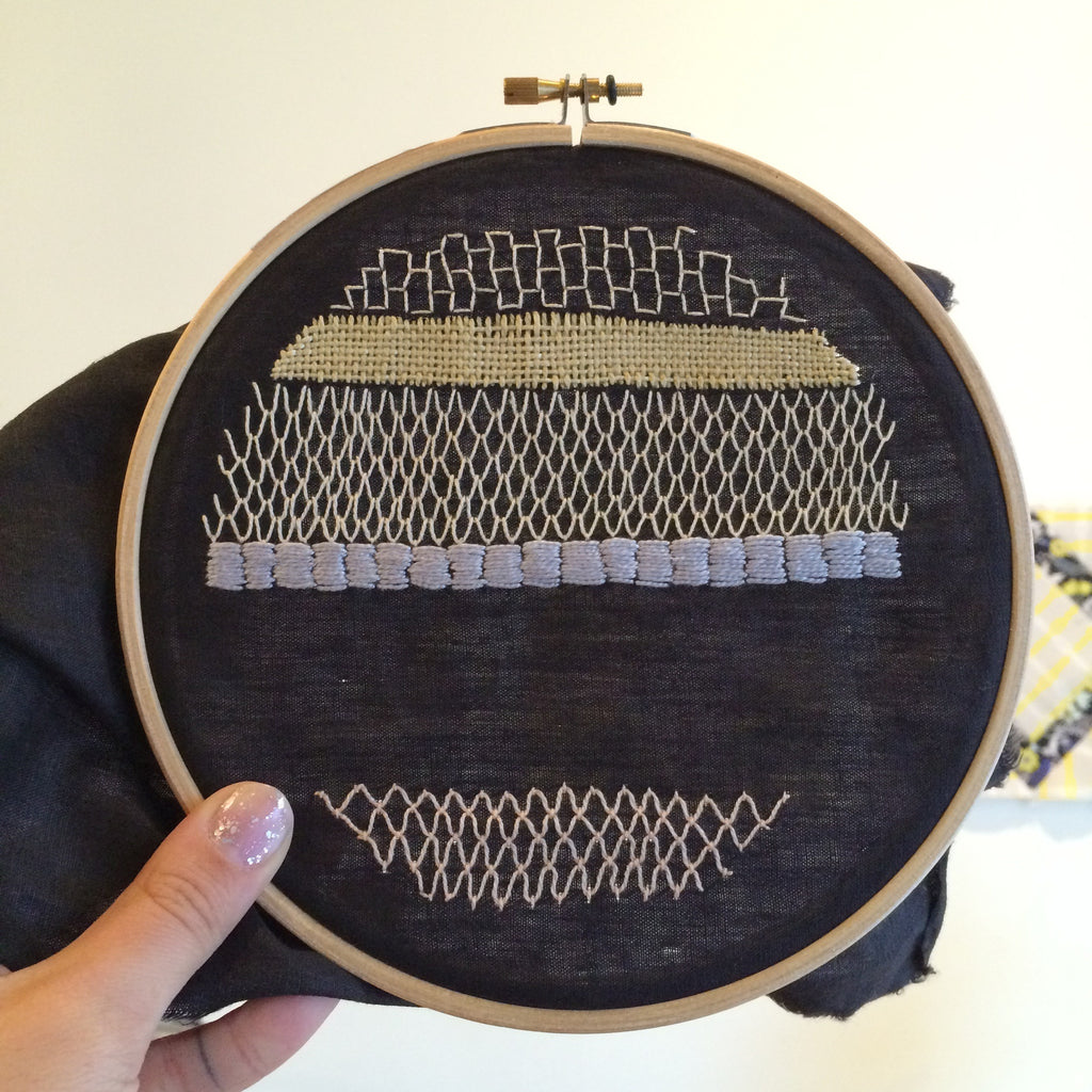 Embroidery Beyond the Basics: Couching and Needle-Weaving
