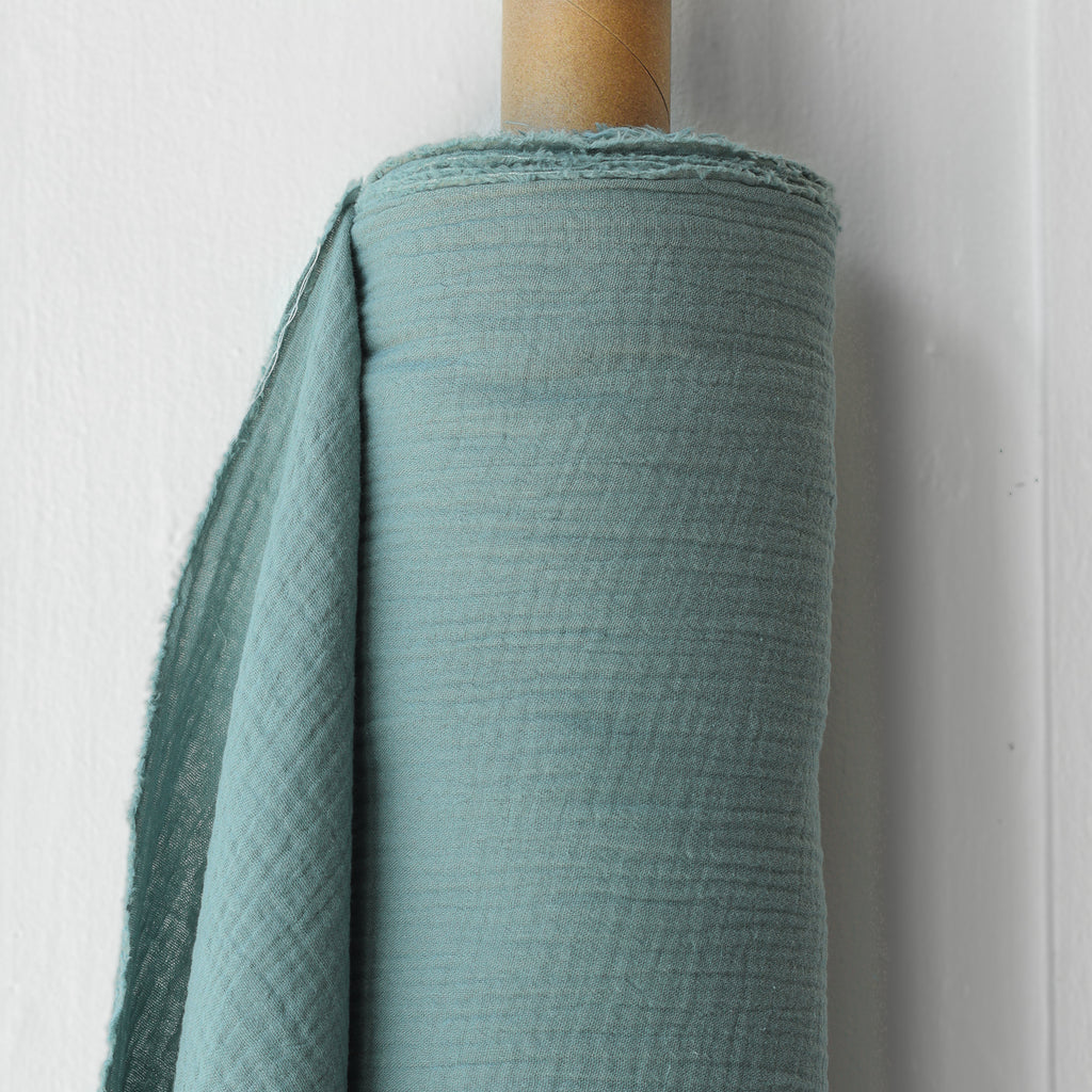 1/2m Double Gauze - 100% Organic Cotton - Eucalyptus