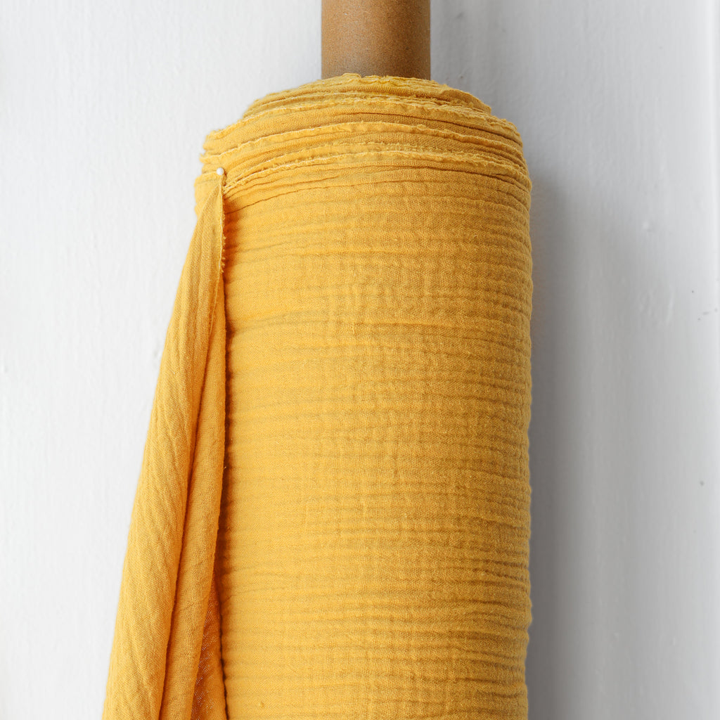 1/2m Double Gauze - 100% Organic Cotton - Mustard