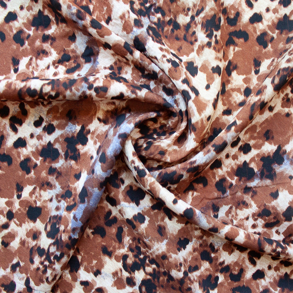 1/2m Lady McElroy - Viscose Challis - Safari Shadow - Ink