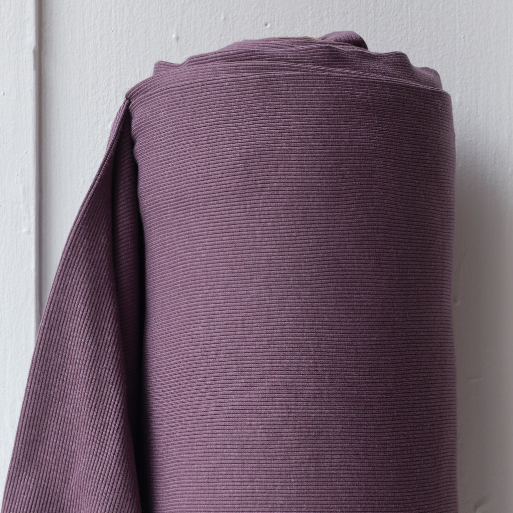 1/2m Bamboo Cotton Rib Knit - Grape