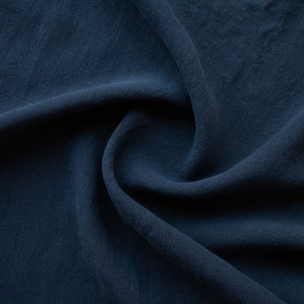 1/2m Washed Linen - Navy