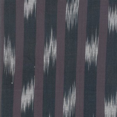 1/2m Boro Woven Foundations - Ikat - Stripes and Ladders - Charcoal