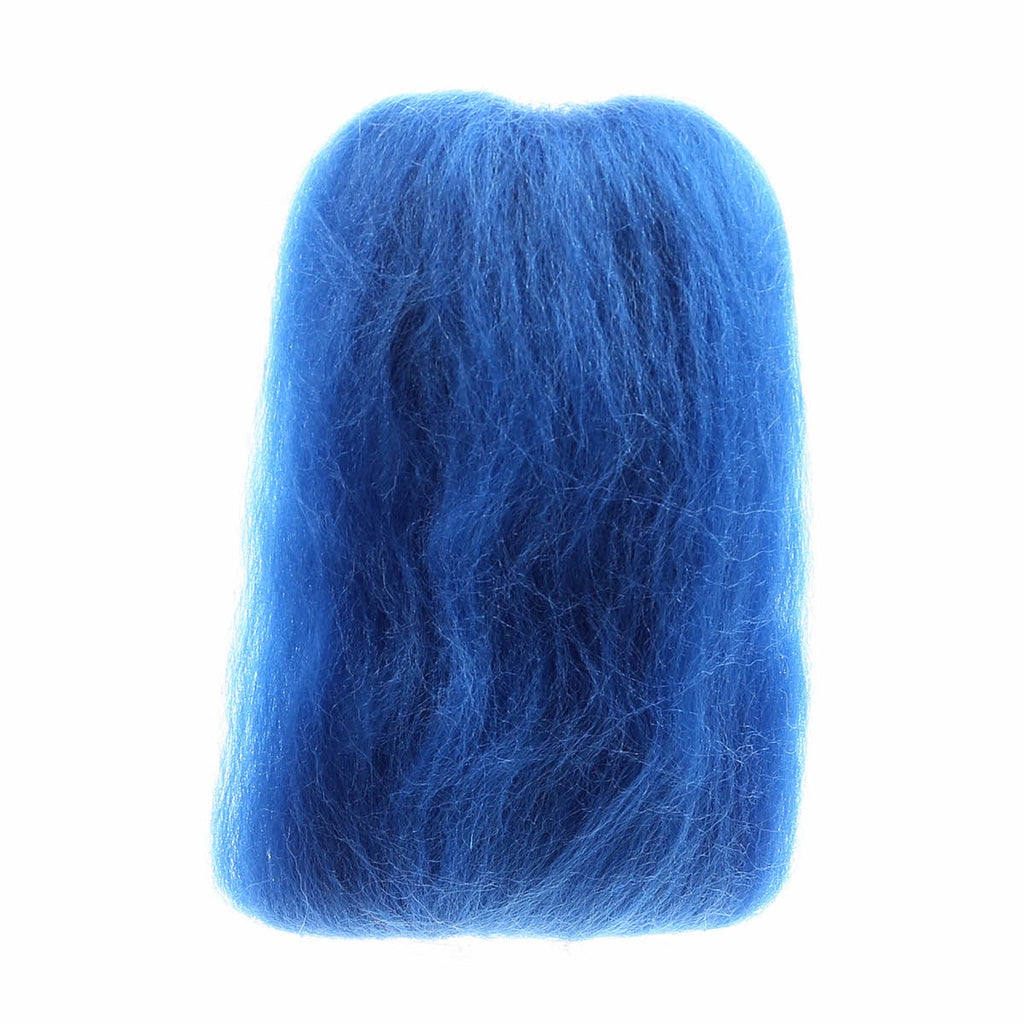 "Wistyria Wool Roving - 12"" - French Blue"