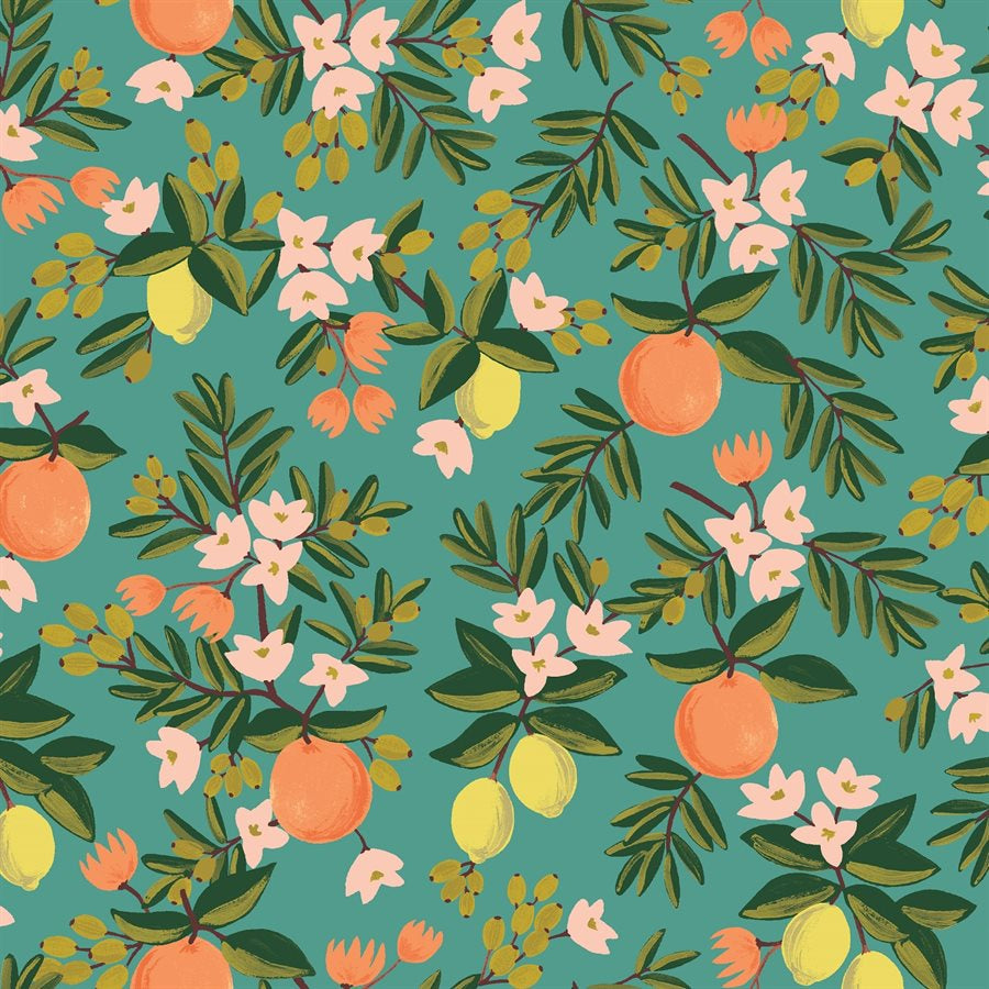 1/2m Rifle Paper Co. - Primavera - Citrus Floral - Teal