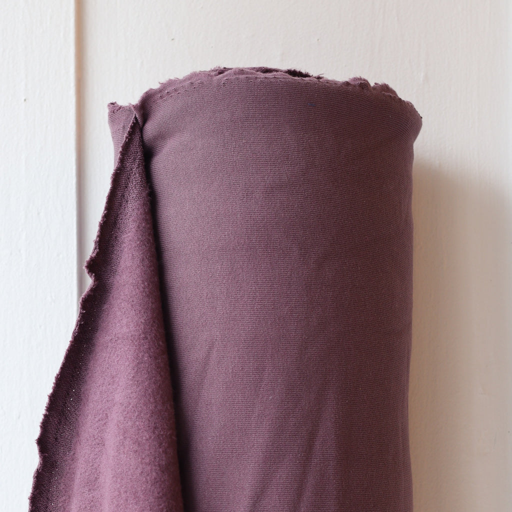 1/2m Bamboo Cotton Fleece - Grape