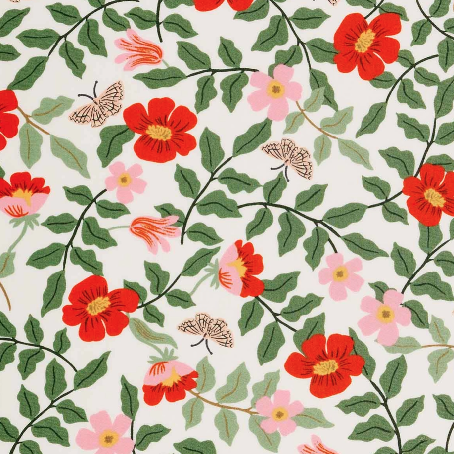 1/2m Rayon Rifle Paper Co. - Strawberry Fields - Primrose RAYON - Ivory