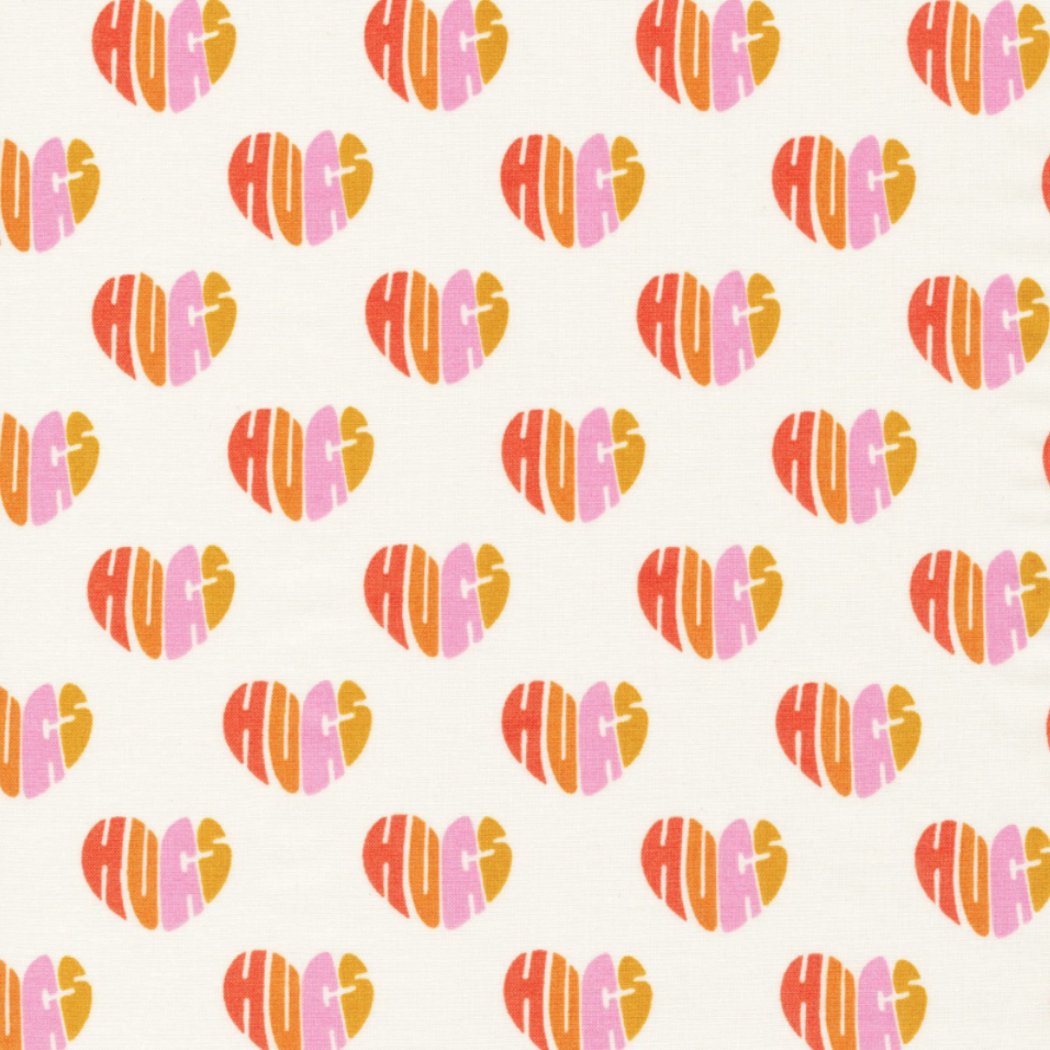 1/2m Cloud9 Fabric - Elizabeth Olwen - Universal Love - Heart Hugs