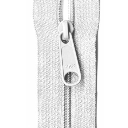 "YKK Ziplon Closed Bottom Zipper - 9"" - White"