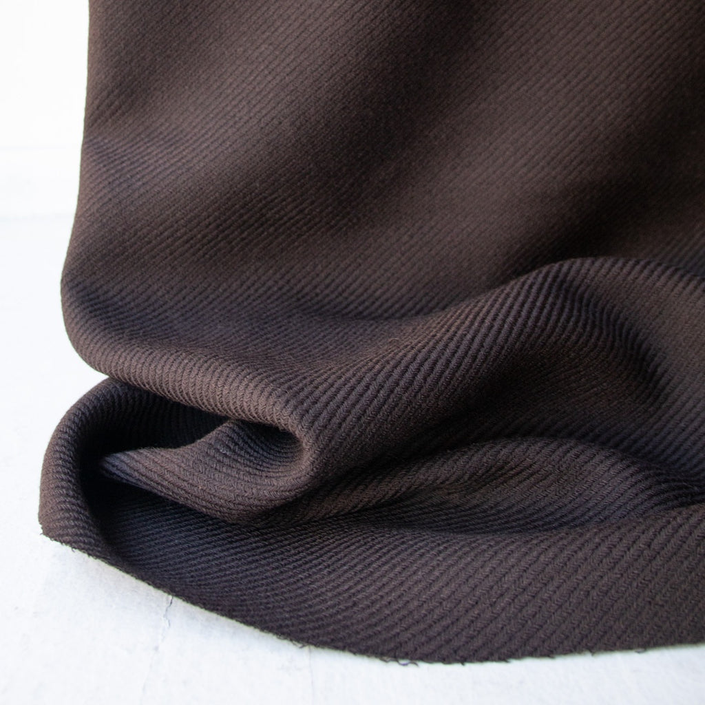 1/2m Twill Jacketing - 100% Wool - Cocoa