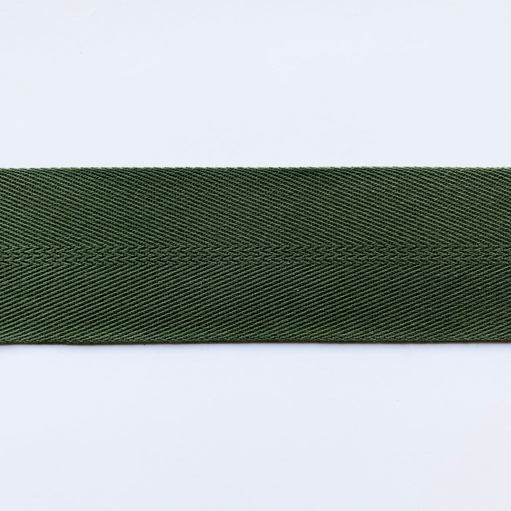 2inch Cotton & Polyester Webbing - 1m - Forest